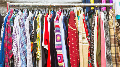 Rack Photograph - Clothes by Tom Gowanlock