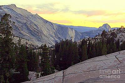 Cloud's Rest And Half Dome Art Print by Lynn Bawden