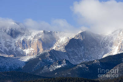 Steve Krull Royalty-Free and Rights-Managed Images - Cloudy Peak by Steve Krull