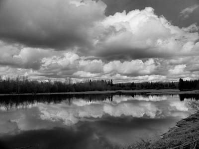 Photograph - Cloudy Pond by Gene Cyr