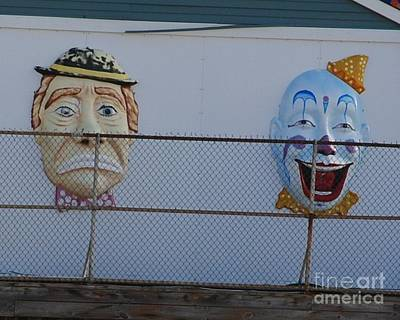 Seaside Heights Photograph - 2 Clown Faces by Daniel Diaz