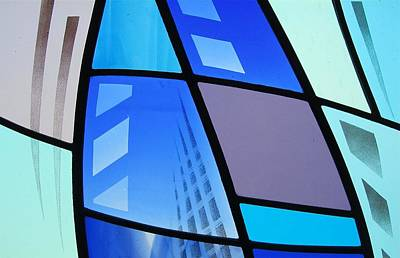 Glass Art - Coal Harbour Triptych Part 3 by Gilroy Stained Glass