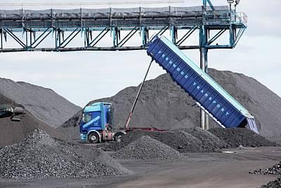 Coal On The Docks In Hull Art Print