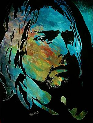 Lead Singer Painting - Cobain by Jeremy Moore