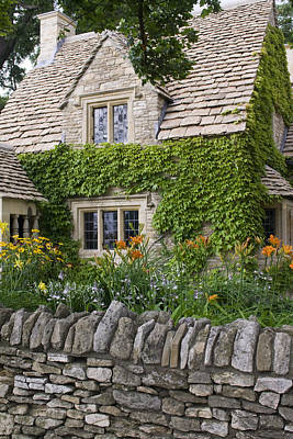 Flower Photograph - Cobblestone Cottage by Gary Marx