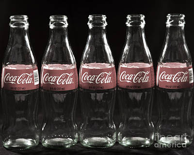 Coke Classic Photograph - Coca Cola Bottle Close Up by ELITE IMAGE photography By Chad McDermott