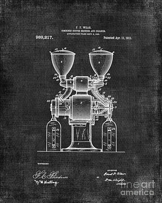 Old Grinders Digital Art - Coffee Grinder Patent 060 by Edit Voros