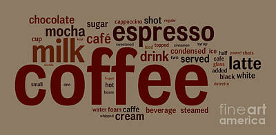 Coffee Art Print by Shawn Hempel