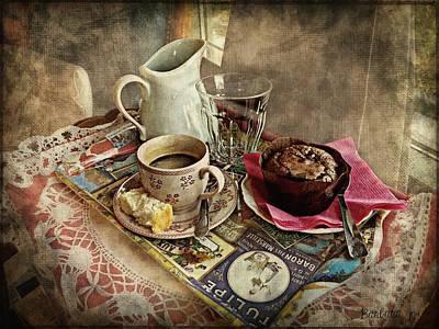Coffee Time Art Print by Barbara Orenya