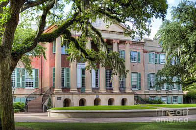 College Of Charleston Randolph Hall Art Print by Dustin K Ryan