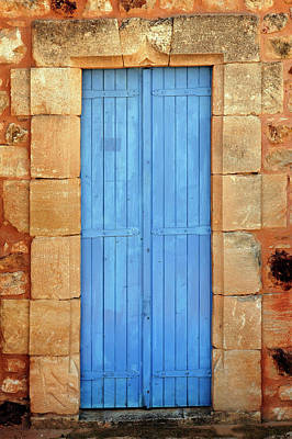 Color Door, Roussillon, France Art Print by Adam Jones