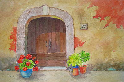 Painting - Color Me Tuscany by Mary Ellen Mueller Legault
