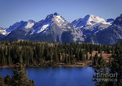Mountain Reflection Lake Summit Mirror Photograph - Colorado Blues by Janice Rae Pariza
