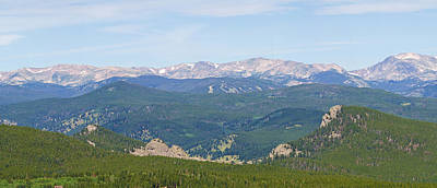 Photograph - Colorado Continental Divide 5 Part Panorama 2 by James BO  Insogna