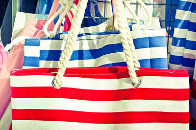 Red White And Blue Photograph - Colorful Bags by Tom Gowanlock