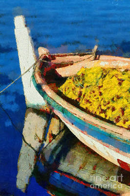 Painting - Colorful Boat by George Atsametakis