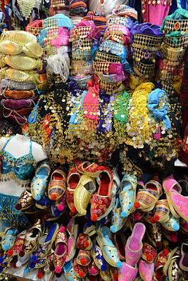 Photograph - Colorful Fez Hats And Slippers Clothing In Istanbul Turkey by Brandon Bourdages