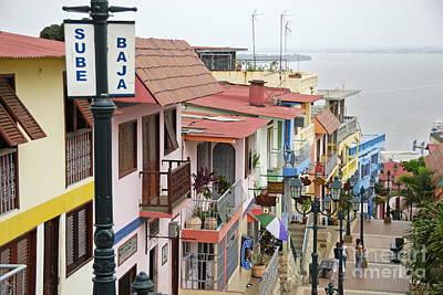 Colorful Houses On Cerro Santa Ana Art Print by Sami Sarkis