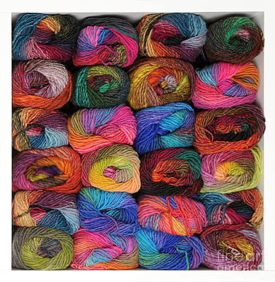 Photograph - Colorful Knitting Yarn by Les Palenik