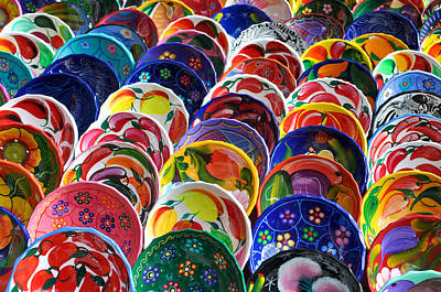 Artisan Handcrafted Photograph - Colorful Mayan Bowls For Sale by Brandon Bourdages