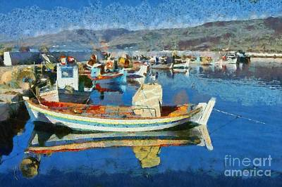 Painting - Colorful Boats by George Atsametakis