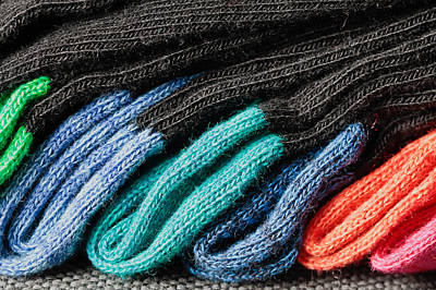 Diverse Photograph - Colorful Socks by Tom Gowanlock
