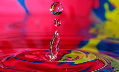 Colorful Water Drop Art Print