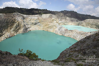 Colourful Crater Lakes Of Kelimutu Print by Richard Roscoe