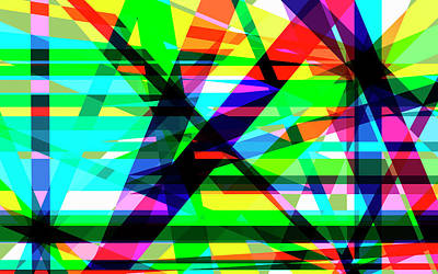 Photograph - Complex Crisscrossing Multi Colored by Ikon Images