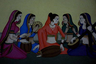 Painting - Composition by Hihani Gautam