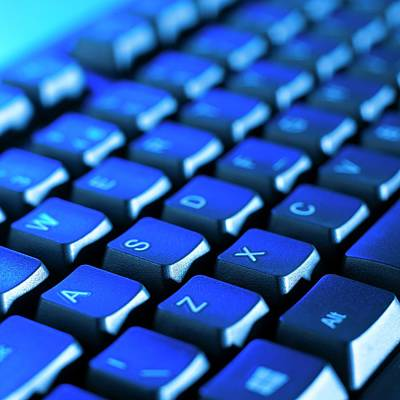 Keyboards Photograph - Computer Keyboard by Science Photo Library