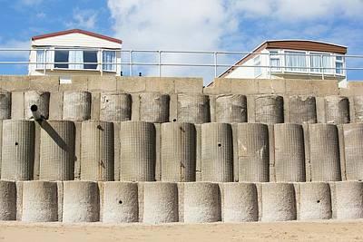 Concrete Sea Defences Art Print by Ashley Cooper