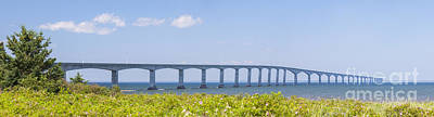 Confederation Bridge Panorama Print by Elena Elisseeva