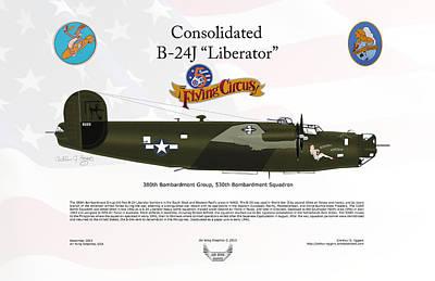 Consoldated B-24j Liberator Art Print