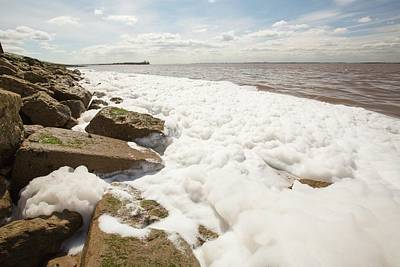 Contaminated Water Entering The Humber Art Print by Ashley Cooper