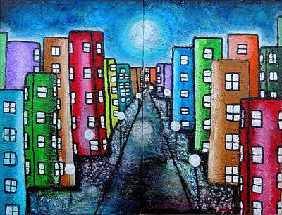 Painting - Contemporary City by Shirley Smith