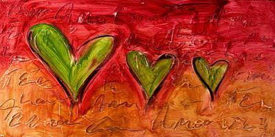 Contemporary Heart Painting Original