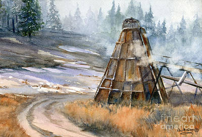 Wyoming Painting - Cookin' It by Lynne Wright