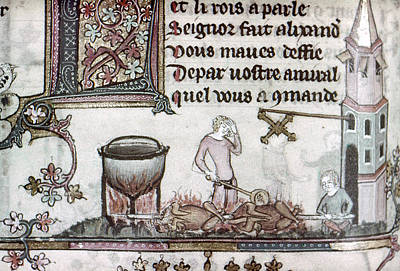 Spit Painting - Cooks, 14th Century by Granger
