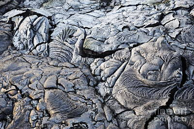 Cooled Pahoehoe Lava Flow Art Print by Sami Sarkis