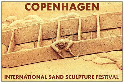 Photograph - Copenhage Sand Sculpture by Sophie Vigneault