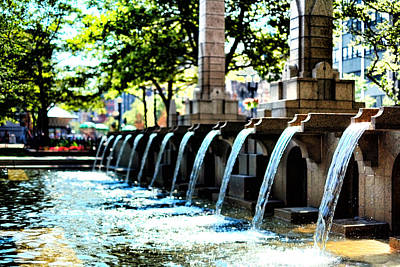 Copley Square Fountain In Boston Art Print