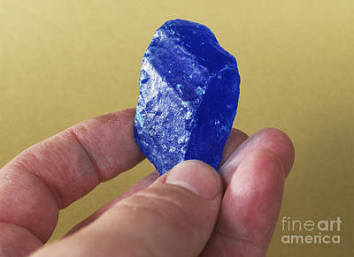 Inorganic Solid Photograph - Copper Sulphate Crystal by Andrew Lambert Photography
