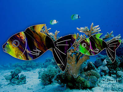 Coral Reef Painting Art Print