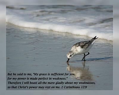 2 Corinthians 12 9 Art Print