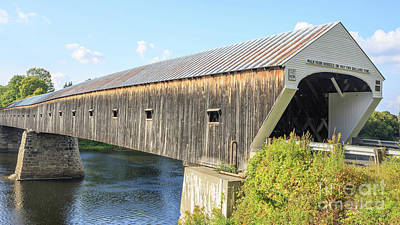 Cornish Wall Art - Photograph - Cornish-windsor Covered Bridge IIi by Edward Fielding