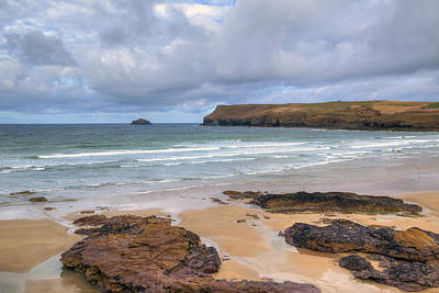 Cornwall - Polzeath Art Print