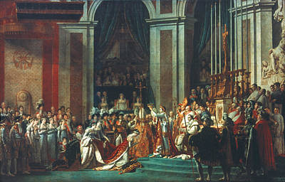 First Couple Painting - Coronation Of Napoleon by Granger
