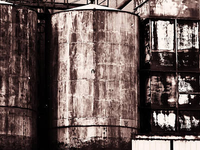 Photograph - Corroding Silos by Robert Knight