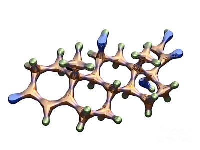 Cortisol Hormone Molecule Art Print by Dr. Mark J. Winter
